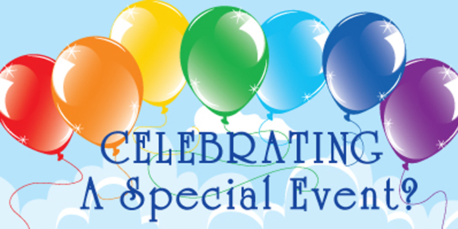 The special event celebration banner