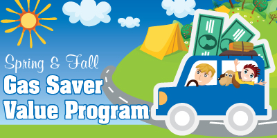 The gas saver program banner
